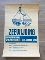 AFFICHE POSTER BREDENE BREEDENE 1980 ZEEWIJDING  45 X 30 - Affiches