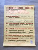 AFFICHE POSTER BREDENE BREEDENE NUKKERFEESTEN 1978 ZEEWIJDING  45 X 51 - Affiches