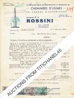 Lettre 1951 WELKENRAEDT - Jacques R.H. ROSSINI - Construction Et Réparation De Cheminées D'usines - Belgium