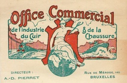 Document Office Commercial Du Cuir Et De La Chaussure Pierret à Bruxelles Art Nouveau - Belgio