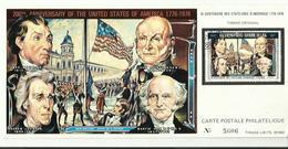 Carte Avec Timbre Bi Centenaire Des Etats Unis D Amerique 1776 1976 Timbre Original Carte Postale Philatelique No 5606 - Central America