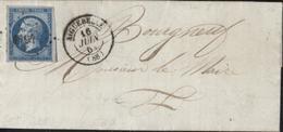 73 Savoie YT 14 Empire Non Dentelé Petit Chiffres PC 4194 CAD T15 (88) Aiguebelle 16 6 1861 - 1849-1876: Periodo Clásico
