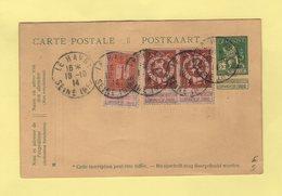 Le Havre - Seine Inferieure - 18-10-1914 - Sur Timbres Belges - 1. Weltkrieg 1914-1918
