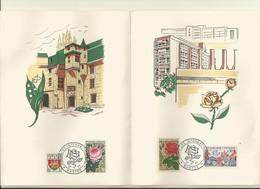 CACHET  COMMEMORATIF  FLORALIES INTERNATIONNALES DE NANTES  MAI 1963 SUR PLAQUETTE. - Cachets Commémoratifs