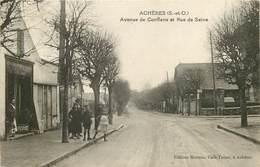 ACHERES   Avenue De Conflans Et Rue De Seine - Acheres