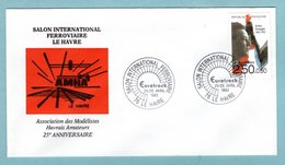 Le Havre 1992 -  Salon International Ferroviaire - Oblitération Eurotrack  - YT 2750 Arthur Honegger - 1961-....