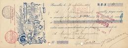Document Imprimerie Cliché Annonce Journaux Declercq à Bruxelles Art Nouveau - Belgio