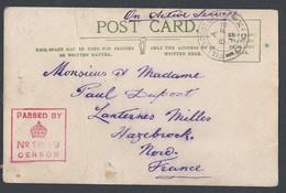 14/18 Carte Censure Anglaise 1819 TAD Field Post Office DC3 (Div. Cavalerie) Du 18/2/1915 Vers Hazbrock - Guerre De 1914-18