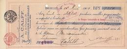 Document Imprimerie Encres Calff à Cureghem Bruxelles - Belgio