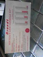 Présentoir Dépliant Publicitaire En Carton - Brandt NOUVEAU LAVE VAISSELLE EO - 151 X 295 Mm Courbe  De Consommation - Plaques En Carton