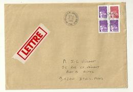 Lettre Obliteration College A M JAVOUHEY SENLIS OISE Sur Marianne De Luquet - 1961-....