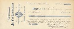 Document Imprimerie Lithographie Van Langenacker à Hasselt - Belgio