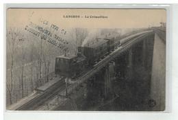52 LANGRES LA CREMAILLERE + CACHET HOPITAL TEMPORAIRE PLACE FORTE MAI 1945 - Langres