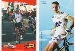 CYCLISME   Tour De France  2 CARTES DE  PHILIPPE GILBERT - Wielrennen