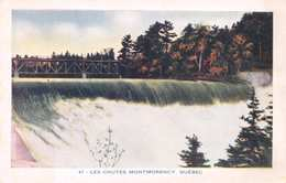 LES CHUTES MONTMORENCY - QUEBEC ~ AN OLD POSTCARD  #224162 - Montmorency Falls