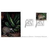 FDC LNF - Les Oiseaux Menacés. Kiwi Austral - 4/11/2000 Nouvelle Zélande - FDC