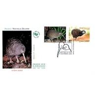 FDC JF Mod 2 - Les Oiseaux Menacés. Kiwi Austral - 4/11/2000 Nouvelle Zélande - FDC