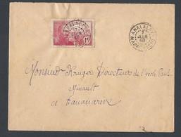 Madagascar Enveloppe Y/T 222 Rose Carminé TAD ANANALAVA  Du 7/6/1940 Vers TANANARIVE - Lettres & Documents