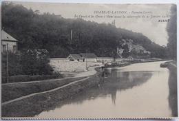 CHATEAU-LANDON -  Hameau Lorroy - Le Canal Et Les Caves à Blanc Avant La Catastrophe 21 Janvier 1910 - Chateau Landon