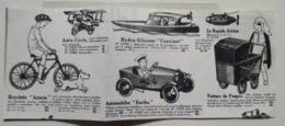 Automobole EUREKA -  Voiture à Pédales - Modèle Bébé N° 3 Coupure De Presse De 1930 - Magazines