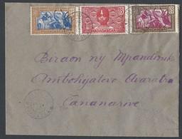 Madagascar Enveloppe Y/T 166/167/172 TAD IFANABIANA Du 26/1/1942 Vers TANANARIVE - Madagascar (1889-1960)