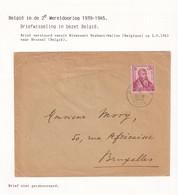 DDW784 - Lettre TP Savants RIXENSART 1943 Vers Bruxelles - Pas De Censure Sur Ce Courrier Intérieur. - Guerre 40-45
