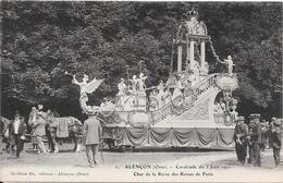 61 ALENCON. Cavalcade 1911 - Char De La Reine Des Reines De Paris - Alencon