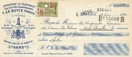 Document Imprimerie Lithographie Buyck La Tour Rouge à Gand - Belgio
