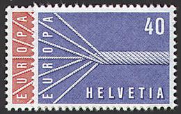 EUROPA CEPT SUISSE 1957 N° Y&t 595/596 Neufs ** MNH Luxe - 1957