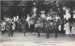 61 ALENCON. Cavalcade 1911 - Le Duc D'Alençon Et Ses Pages - Alencon