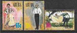 1996 Antilles Néerlandaises ARUBA 177-79** UPAEP, Danses - Curacao, Netherlands Antilles, Aruba
