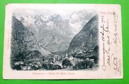 Cartolina - Valle D'Aosta - Courmayeur E Catena Del Monte Blanco - 1902 - Italia
