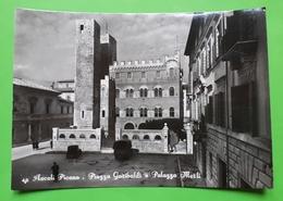 Cartolina - Ascoli Piceno - Piazza Garibaldi E Palazzo Merli - 1950 Ca. - Ascoli Piceno