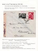 DDW785 - Lettre TP Secours D' Hiver BRUXELLES 1944 Vers WELKENRAEDT (Allemagne) - CANTONS DE L'EST Intégrés Au Reich - Guerre 40-45