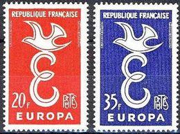 (*) EUROPA CEPT FRANCE 1958 N° Y&t 1173/1174 Neufs ** MNH Luxe - 1958
