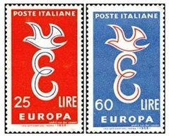 (*) EUROPA CEPT ITALIE 1958 N° Y&t 765/766 Neufs ** MNH Luxe - 1958