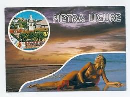 CP Pin-up Femme Blonde Seins Nus Pietra Ligure - Pin-Ups