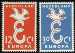 EUROPA CEPT PAYS BAS NEDERLAND 1958 N° Y&t 691/692 Neufs ** MNH Luxe - 1958