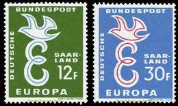EUROPA CEPT SARRE SAAR 1958 N° Y&t 421/422 Neufs ** MNH Luxe - 1958