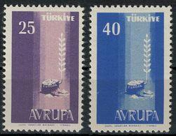 (*) EUROPA CEPT TURQUIE 1958 N° Y&t 1412/1413 Neufs ** MNH Luxe - 1958