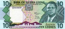 SIERRA LEONE 10 LEONES 1988  P-15  UNC - Sierra Leone