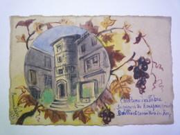 2020 - 4840  Très Jolie AQUARELLE Originale Signée  :  Château Des FABRE Seigneurs De ROUJAN  (Hérault)  1931   XXX - Unclassified