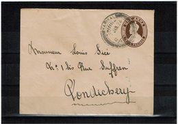 CTN62/DIV - INDE LETTRE KARIKAL / PONDICHERY 7/1/1924 - Indien (...-1947)
