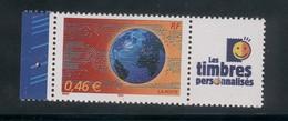 3532 A Le Monde En Réseau - La Paire Avec Cérès Et Les Timbres Personnalisés 2002 - Personalizzati