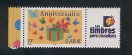 3480 A Joyeux Anniversaire - La Paire Avec Cérès Et Les Timbres Personnalisés 2002 - Personalizzati