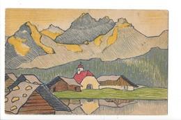 24464 - Wiedlisbach Dessin Eglise Et Montagnes 1919 à Identifier - BE Berne