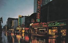 Canada, Montréal, La Rue Sainte Catherine La Nuit - Montreal