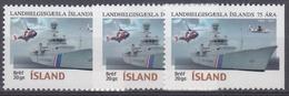 +Iceland 2001. Coast Guard. Michel 973A+D. AFA 958. MNH(**) - Nuovi