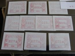 ✅ Portugal ATM FRAMA 1981 - Bureaux De Poste 1/10 - Mi. 1, 10 Pcs ** MNH  [000575] - ATM/Frama Labels