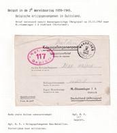 DDW790 - Formule De Prisonnier Lettre-Réponse WASSEIGES 1943 Vers Stammlager I A Stablack - Censure Du Camp - Guerre 40-45